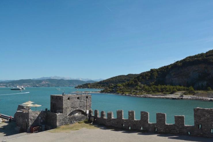 Vista de Palmaria e Il Tino desde Portovenere